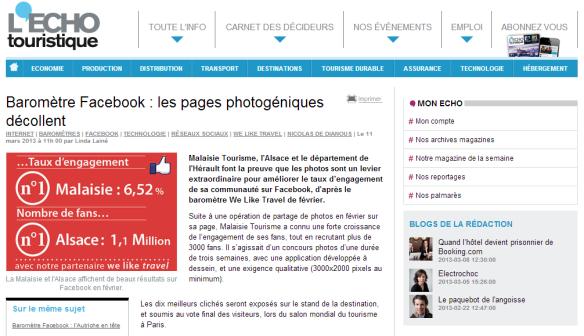 Baromètre Facebook : les pages photogéniques décollent